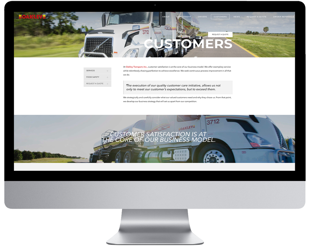 Oakley Transport Website